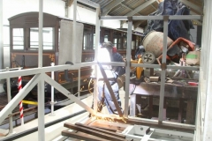 … Adrian puts the newly arrived steel to use on carriage No. 24 …