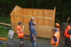… and the assembly of the shed is making good progress!