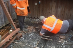 … the cable route from Engine to Carriage Sheds is uncovered for additional cables to be added …