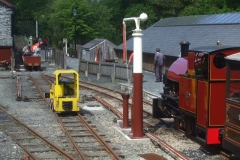 Later in the day, the Gravity Train comes gently to a halt with Loco No. 9 awaiting its arrival.