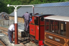 No. 7 is watered prior to stabling.