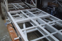 The centre section of the frames of carriage No. 24 has received white undercoat …