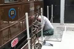 Ifor oiling and greasing the coaches.