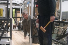 "… and continues after lunch. Derek's motto is – ""If it doesn't fit, fetch a bigger mallet!"""