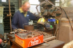Meanwhile, Chris is milling parts for the locking bars for the Signal Box …