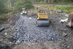The embankment has been built up on the north side of the culvert …