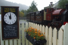 Sunday, 6.10.2019. The train awaits the first run of the sunshine and showers day – all scheduled services were operated.