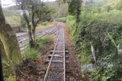 The rails are being sanded in preparation for the waggon to be brought down…