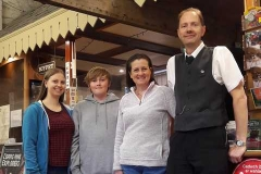 A Family Affair in the museum today  The Arnolds - (LtoR) Kate, Jack, Jane and John. (JA)