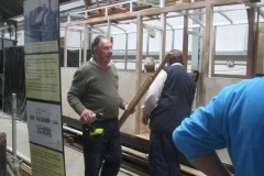 Tuesday, 31st August 2021. It is all go in the Carriage Shed as Bill supervises the fitting of timber components to the body frame of carriage No. 24 ...