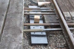... after positioning the new bench to take point rollers emerging from the Signal Box (to control whip in the initial rods).