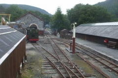 ... and No. 11 pushes No. 4 out of the Engine Shed ...