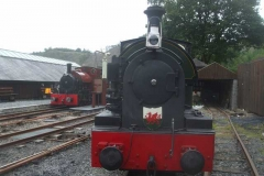 ... so that the two locomotives can be viewed by our visitors.