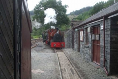 ... so that with its remaining steam, No. 7 can then haul No. 4 into the Engine Shed.
