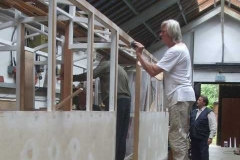 ... while Tony fills the screw heads in where they will be over-painted.