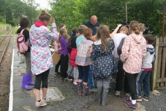 … and Charles entertain by explaining the role and context of the railway in the slate production process.