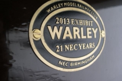 … including the plaque commemorating its appearance at the Warley Model Railway Exhibition in 2013.
