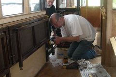 Derek and Charles continue fitting small components in carriage No. 22 …