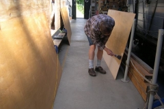 … while Tony is sealing more sheets for carriage No. 23 …