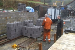 … enabling the blocks to be stacked handy to the work site ...