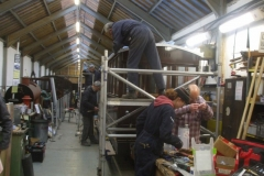 … with the Carriage Shed a hive of activity.