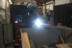 Adrian welds up more Heritage Waggon brake gear components ...