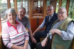 Back in Corris, Brenda, Rob, Keith & Roger re-live the experience of travelling on the railway they helped create!