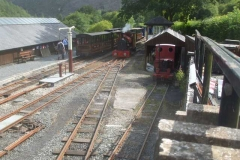 No. 11 has been put away, No. 7 follows and No. 6 is about to take the carriages to the Carriage Shed, with Tony and the Covid fogging machine following …