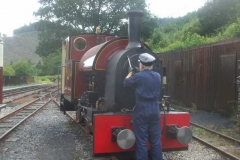 Sunday, 1.8.2021. No. 11 is operating trains today, leaving No. 7 to be steam tested by Dave …