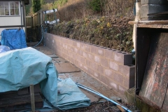 … and a good start has been made (on Sunday and Monday) on the new wall between the fuel area and the Signal Box.