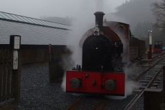 … as No. 7 heads the first working up towards Corris.