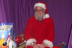 By the end of the day, Santa is very pleased with his record crowds (and again on Sunday)!