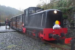 The rest of the trains for the weekend are hauled by No. 11 (here with a Birthday headboard for one of the passengers) …