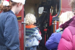 … and more passengers to entertain, the footplate being fascinating to many …
