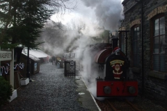 … before the train leaves in a cloud of steam!