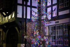 Corris put on a splendid Christmas tree, decorated by the school children …