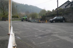 Corris Station Yard has not been so empty for years – thanks to supreme co-operation from the local residents who normally park there.