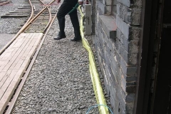 Late in the week, a new power cable has been laid in to the Signal Box …