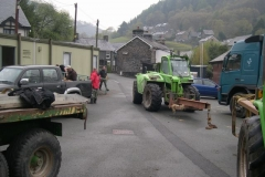 Meanwhile, an impressive array of machinery has arrived in the Station Yard, Corris …