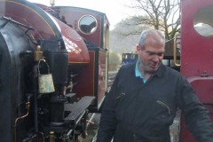 … and Trefor is quite happy – even with a clean(-ish) face!