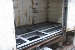 … and de-rusting work on the frames of the P Way van (No. 223) completed, allowing Tony to give them a coat of primer.