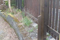 … and secured broken posts to fencing at the rear of the North Platform.