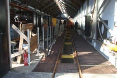 … as well as an empty east road of the Carriage Shed.