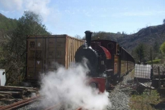 Later, the train is carefully re-started on Maespoeth Bank …