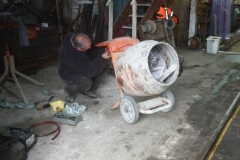 Meanwhile, Trefor is fixing the Cement mixer …