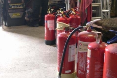 Friday, 4.11.2016. Just a few fire extinguishers undergoing annual inspection …