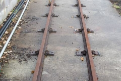 … and the rails and fixings laid out for the siding on which they will (eventually) be stabled.