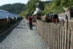 … which gives photo opportunities with loco No. 11 as carriage No. 22 is prepared to be added …