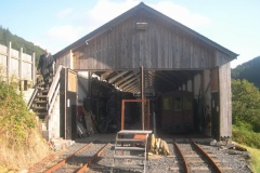 Sunday, 6.9.15. The Carriage Shed is opened up for No. 20 and train …