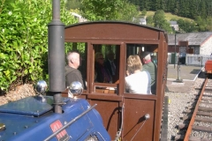 "Up to Corris, where a good load of members join the train for a ""last"" run down in carriage No. 20 …"